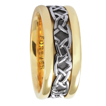 7.5mm 5314 Ladies Celtic Wedding Band