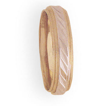 6mm 4T06 Mens Two-Tone Wedding Band