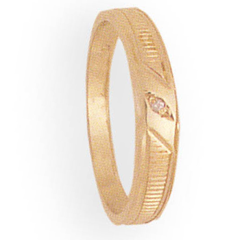 4mm 255 Ladies Tapered Wedding Band