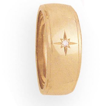 8mm 914 Ladies tapered Wedding Band