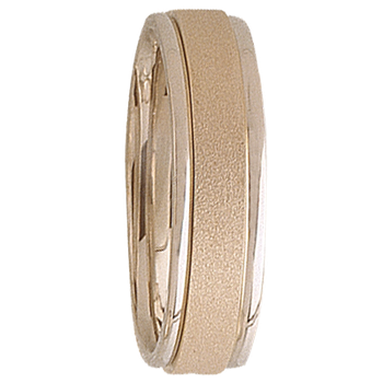 6mm 5T70 Mens Two-Tone Wedding Band