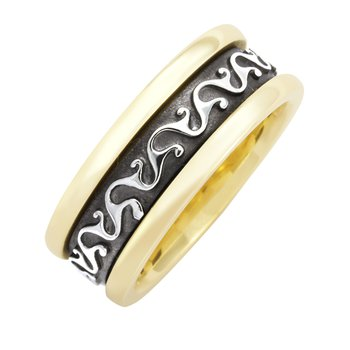 LADIES CELTIC SCROLL WEDDING BAND