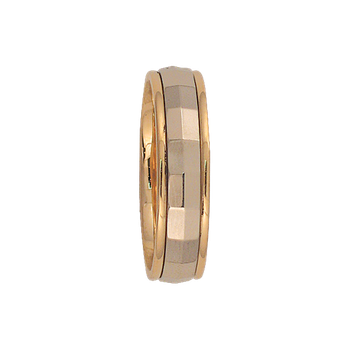 6mm 6T12 Mens Two-Tone Wedding Band