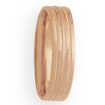 6mm 3T86 Mens Comfort Curve Wedding Band