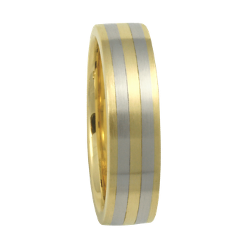 5mm 6T77 Ladies Two-Tone Comfort Curve Wedding Band