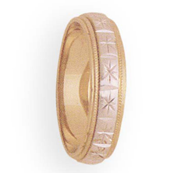 5mm 2T44 Ladies Two-Tone Wedding Band