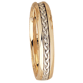 5mm 5530 Mens Two Tone Wedding Band