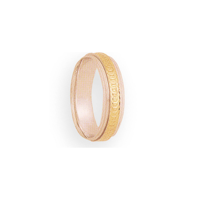 Cadman Catalog 6mm 5T04 Mens Two-Tone Wedding Band