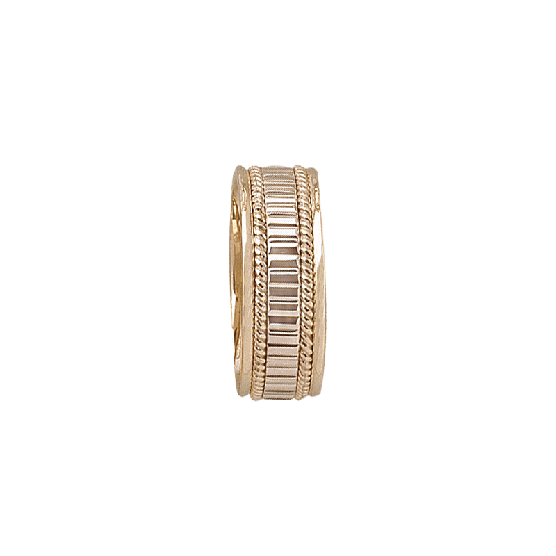 Cadman Catalog 7mm 5T78 Mens Two-Tone Wedding Band
