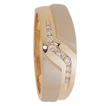 8mm 5196 Mens Tapered Wedding Band