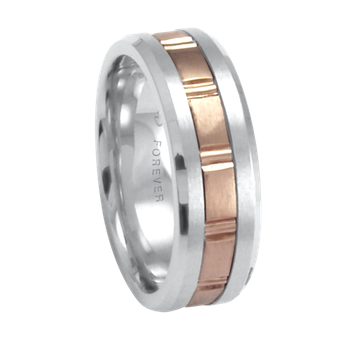 7.5 mm 1T092 Ladies Two-Tone Wedding Band