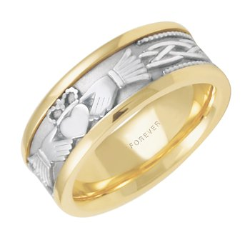 LADIES CLADDAGH 7.5mm WEDDING BAND