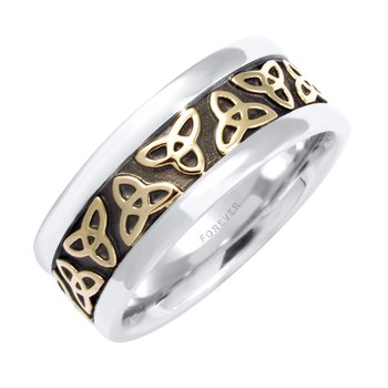 LADIES CELTIC TRINITY KNOT WEDDING BAND
