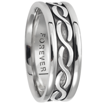 7.5mm 5418 Mens Celtic Wedding Band