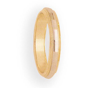 4mm 6T51 Ladies Two-Tone Wedding Band