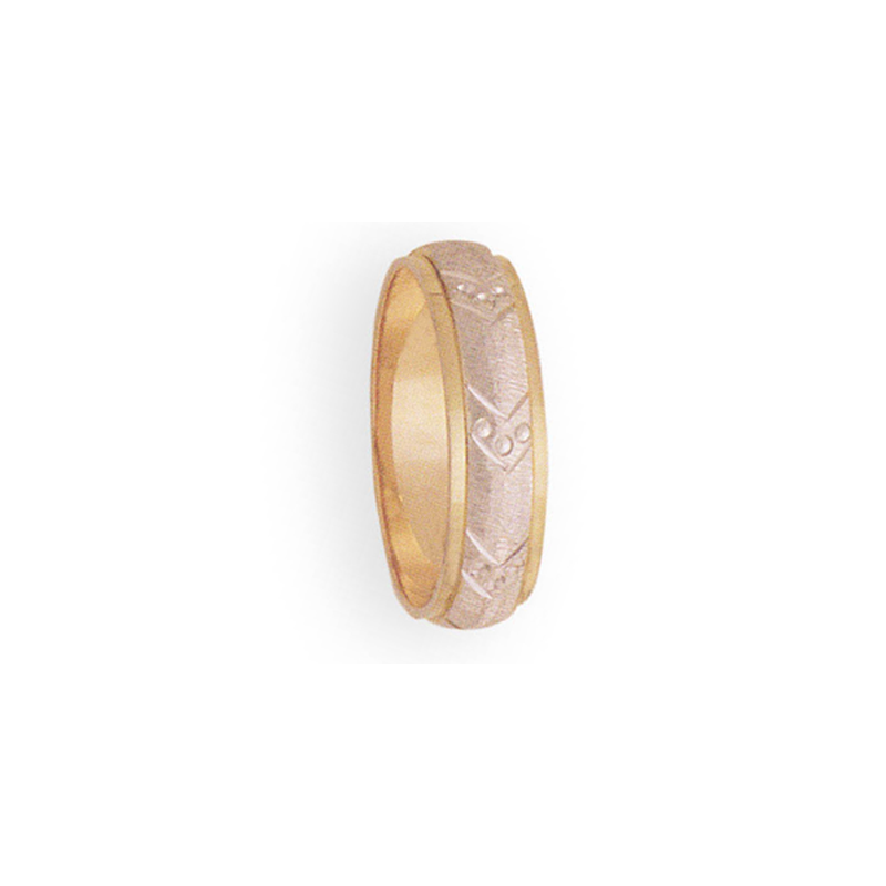 Cadman Catalog 6mm 3T26 Mens Two-Tone Wedding Band