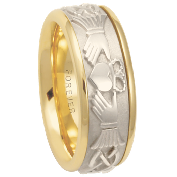 7.5mm 5634 Mens Claddagh Wedding Band