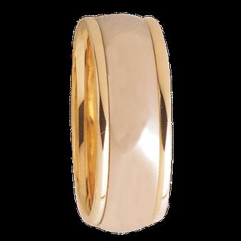 8mm D8T01 Mens Two-Tone Comfort Curve Wedding Band