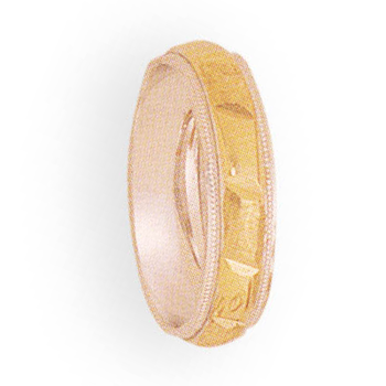 5mm 4T87 Ladies Two-Tone Wedding Band