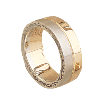 7mm 5394 Ladies Two Tone Wedding Band