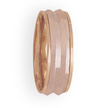 8mm 4T38 Mens Two-Tone Wedding Band
