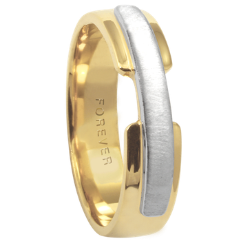 5.5mm 5344 Mens Two Tone  Wedding Band