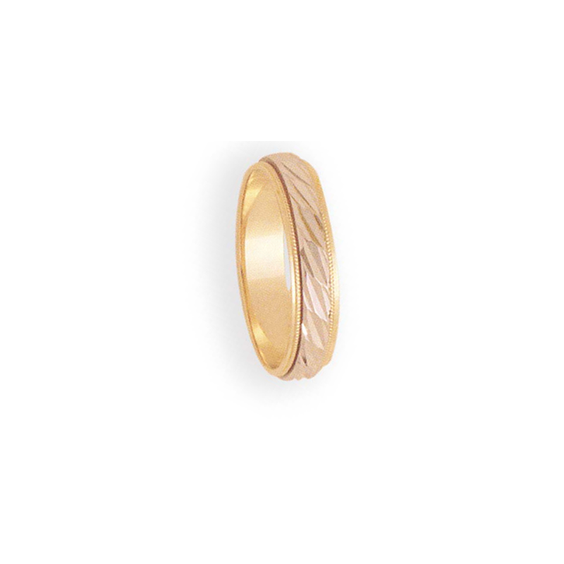 Cadman Catalog 5mm 6T92 Mens Two-Tone Wedding Band