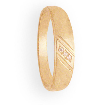 6mm 9P46 Mens Tapered Wedding Band