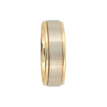 7mm 6T72 Mens Two-Tone Wedding Band