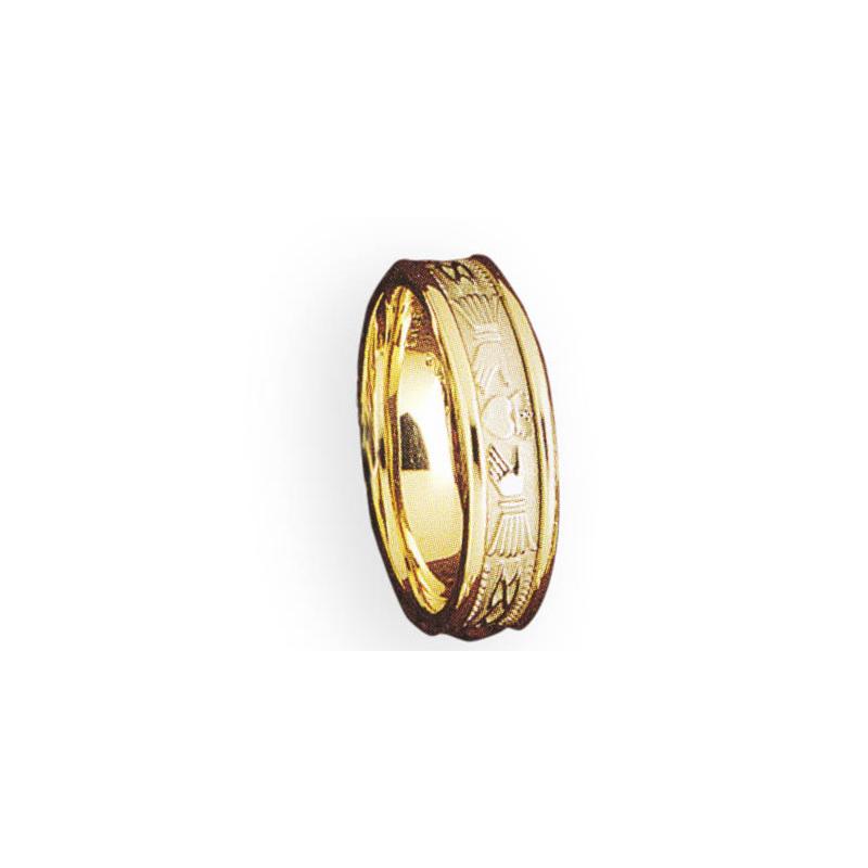 Cadman Catalog 6.5mm 5642 Mens Claddagh Wedding Band
