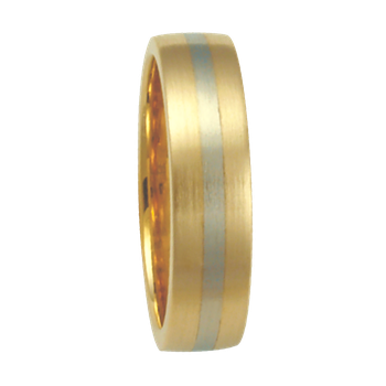 5mm 6T75 Ladies Two-Tone Comfort Curve Wedding Band
