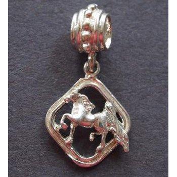 Saddlebred In Diamond Shape Frame Pandora Type Bead