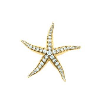 Starfish Pendant With Diamonds