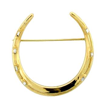 Horseshoe Brooch