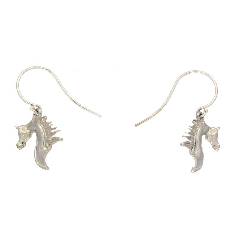 Equestrian Jewelry Sterling Silver Horse Head Earrings