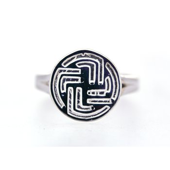 Sterling Silver Centre Point Stable Ring