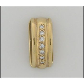 14K Gold Slide With 00.14 Twt Diamond
