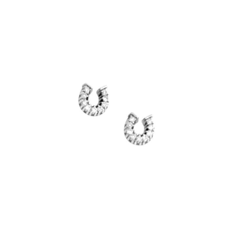 Equestrian Jewelry Diamond Horseshoe Earrings