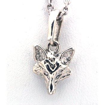 Sterling silver fox head pendant