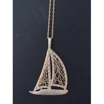 Sailboat/Yacht Pendant Necklace