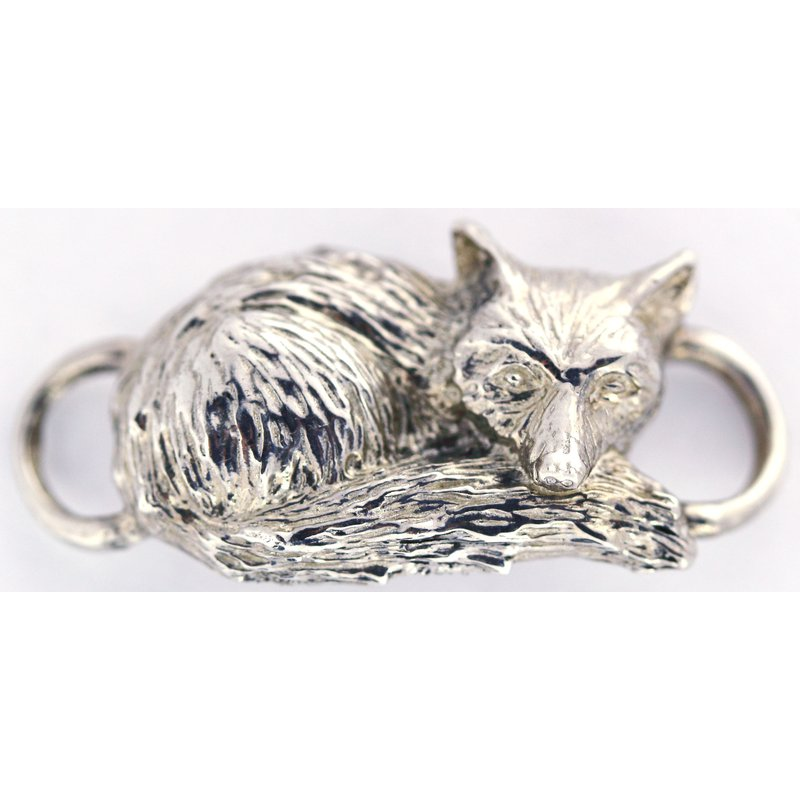 Equestrian Jewelry Sterling Silver Fox Clasp