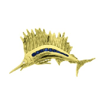 Sapphire Sailfish Pendant