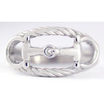 Sterling Silver Horse Bit Ring