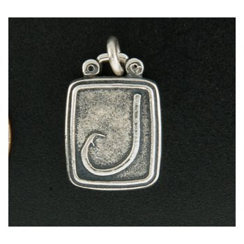 Sterling Hook Plaque Charm