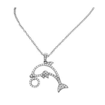 Diamond Porpoise Pendant