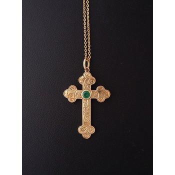 Emerald Cross Pendant