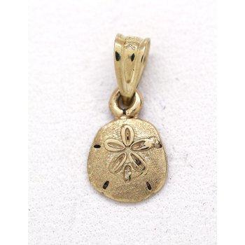 Yellow Gold Sand Dollar Pendant