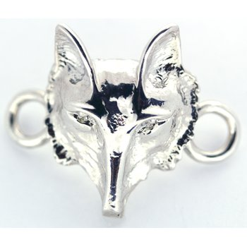 Sterling Silver Fox Head Clasp