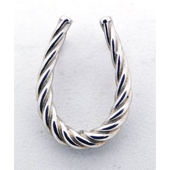 Sterling Silver, Twisted, Horseshoe Pendant