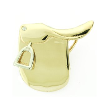 14Kt Gold And Diamond Saddle Pendant